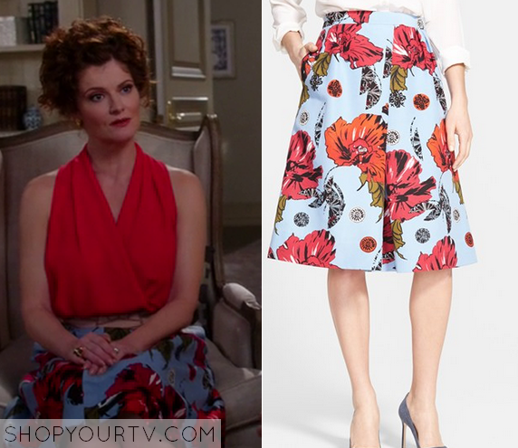 f06b0c7a8f03d5 Devious Maids  Season 3 Episode 6 Evelyn s Floral Midi Skirt ...