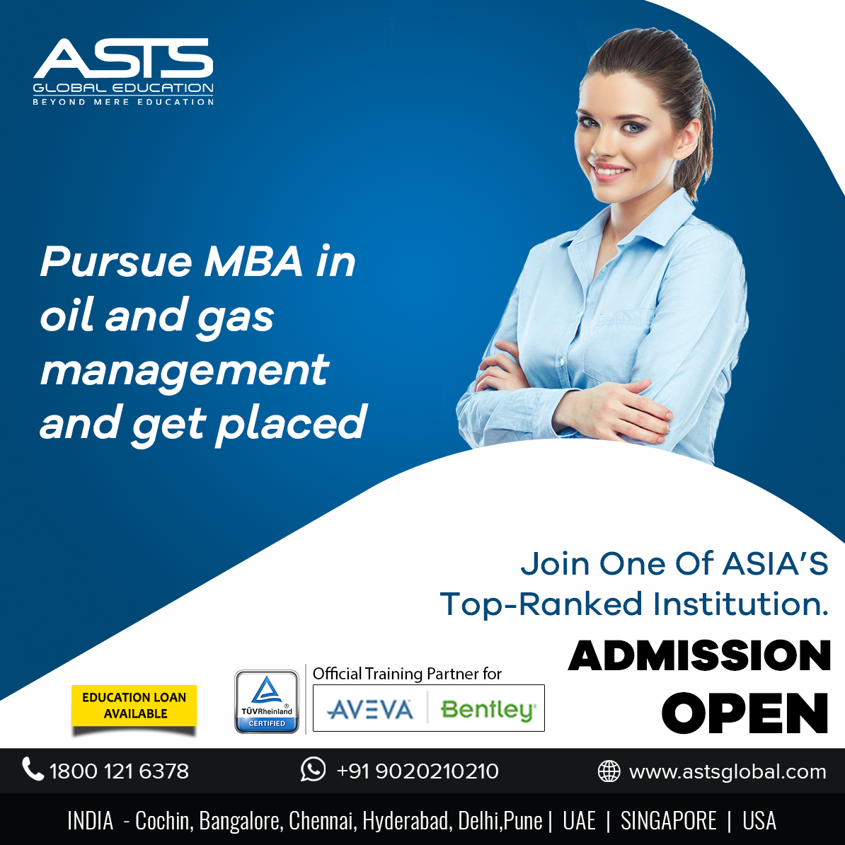Pursue MBA in oil and gas management and get placed in