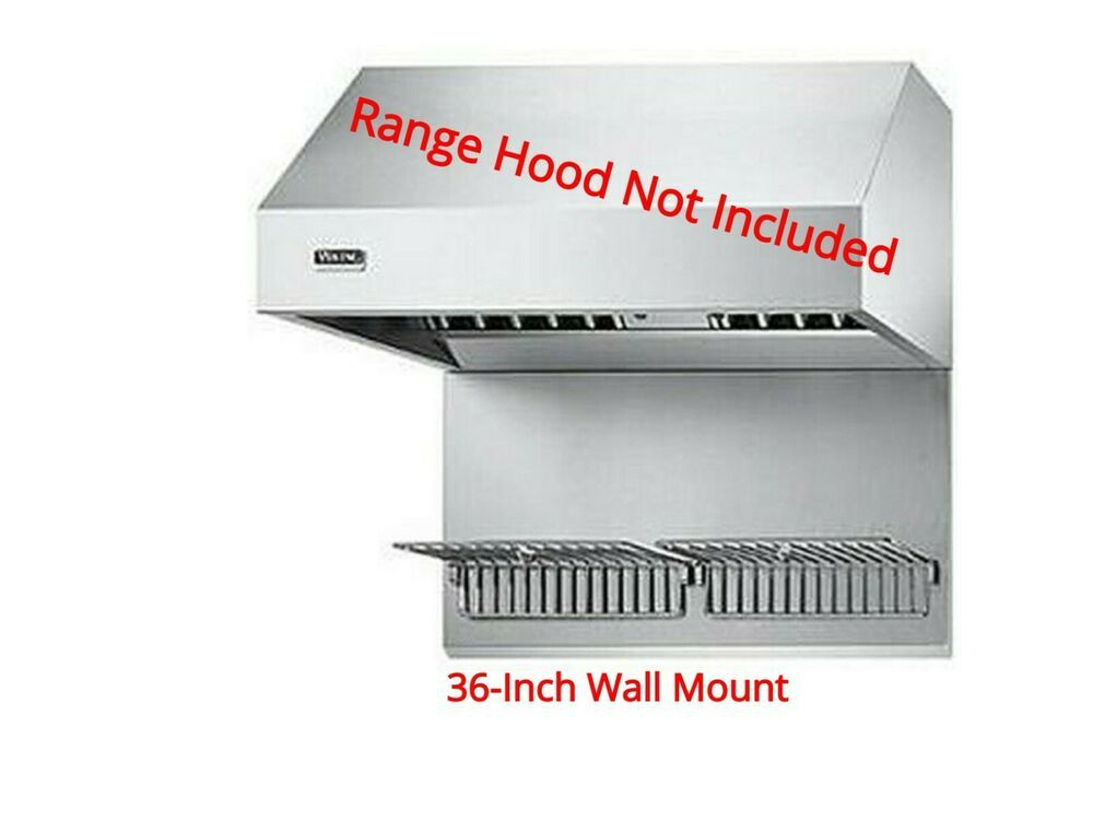 Details About Viking Wgp36ss 36 Inch Wall Hood Stainless Warming Shelf Panels With 2 Shelves In 2020 Paneling Shelves Wall