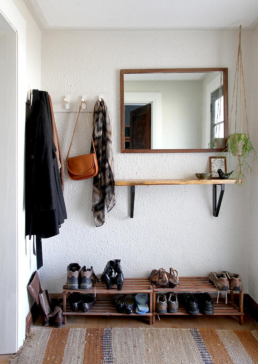 Hallway furniture coat rack  DIY Wooden Peg Coat Rack  Saltbush Avenue  B Street  Pinterest
