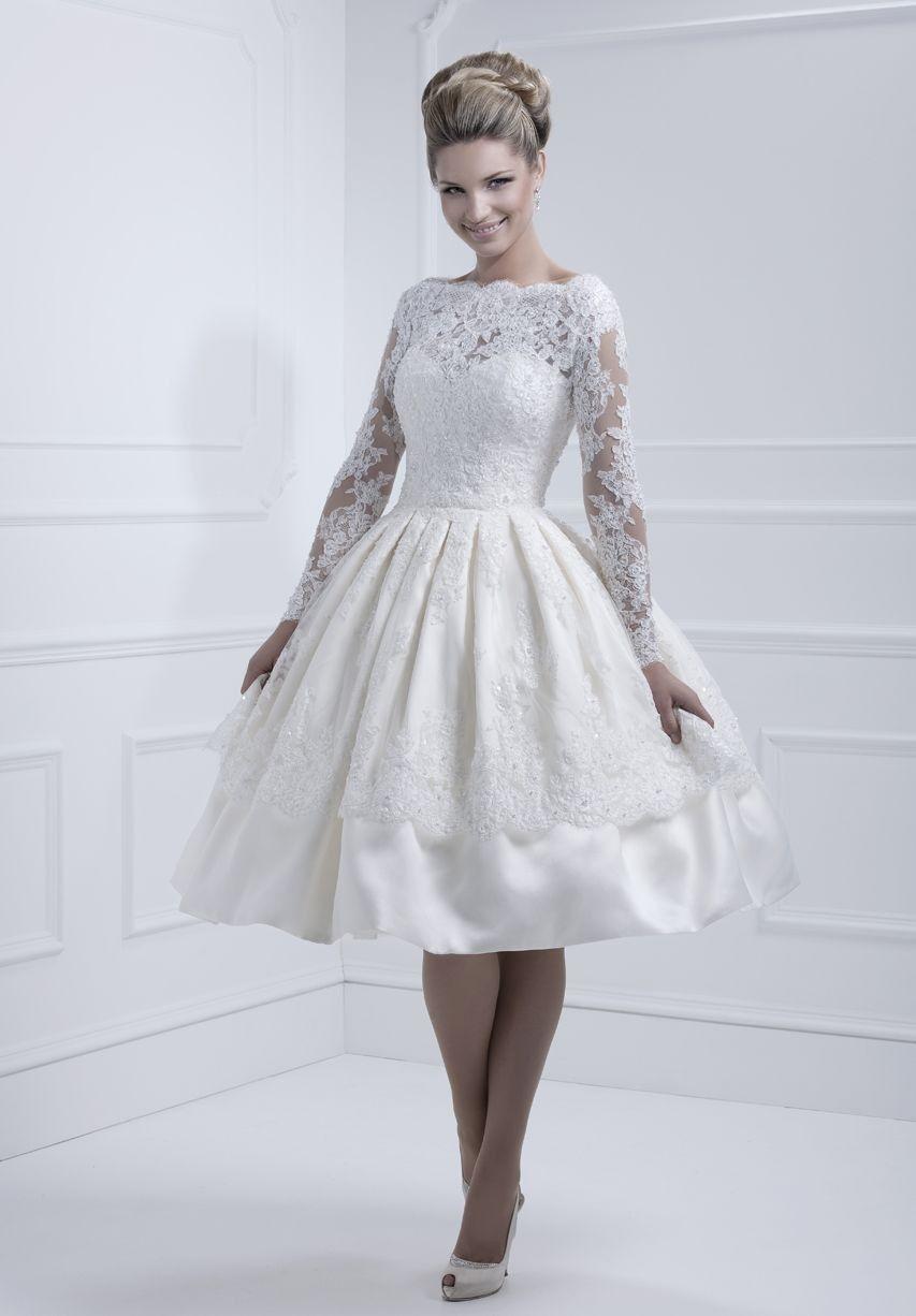 12 vestidos de noiva estilo vintage | Pinterest | Tea length wedding ...