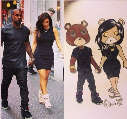 Kim Kardashian Kanye West Drawing From Teamkimye Kim Kardashian Latest Pics Kim Kardashian And Kanye Kim Kardashian Kanye West