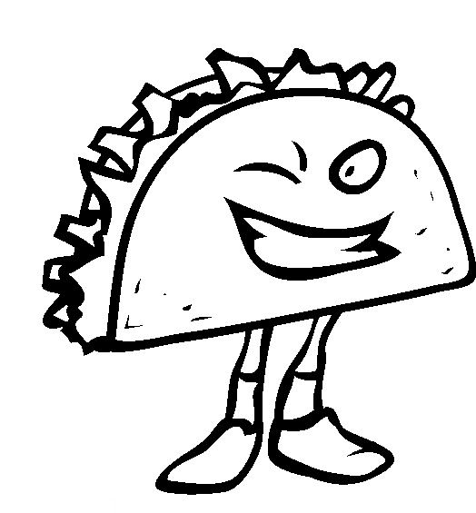 Junk Food Taco Coloring Pages Food Coloring Pages Coloring Pages Coloring Pages For Kids