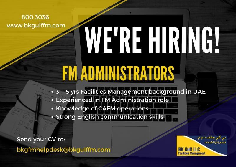 Administrator UAE Job Openings in 2020 Job opening
