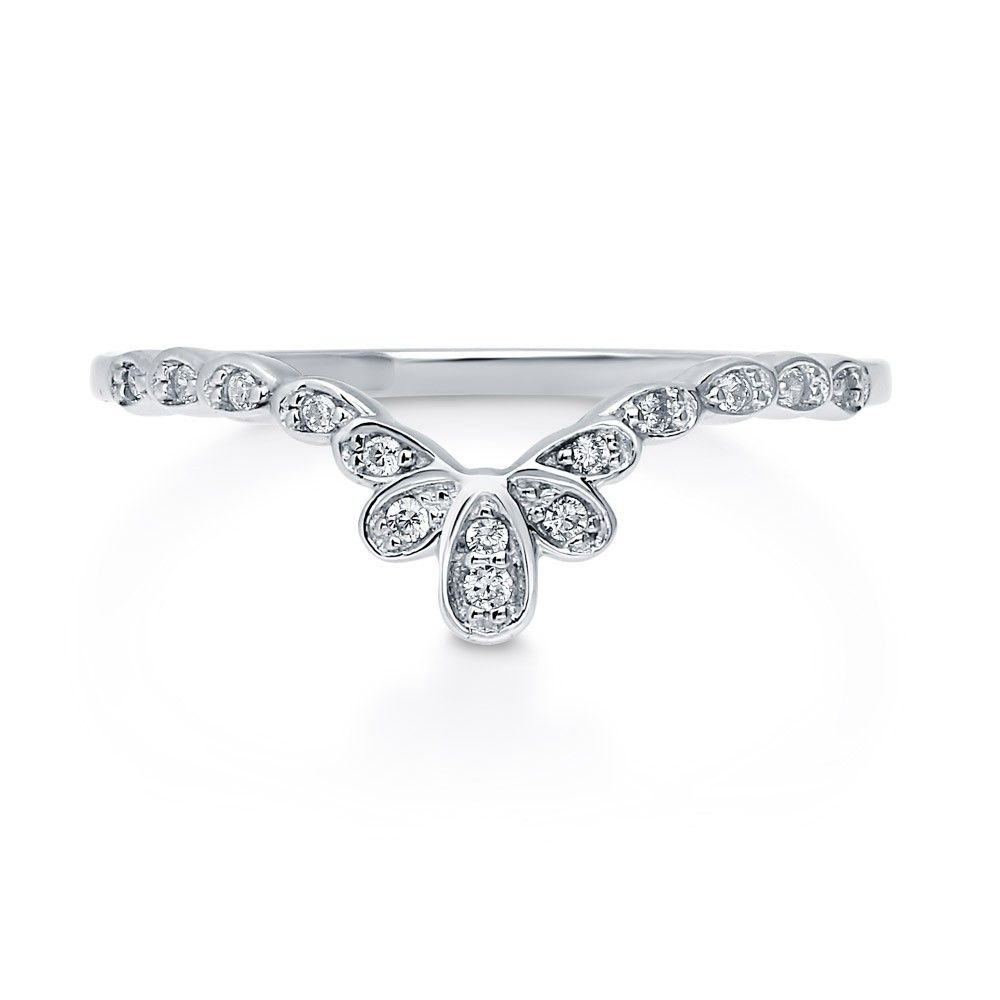 Sterling silver cz flower crown ring sterling silver flower sterling silver cz flower crown ring izmirmasajfo
