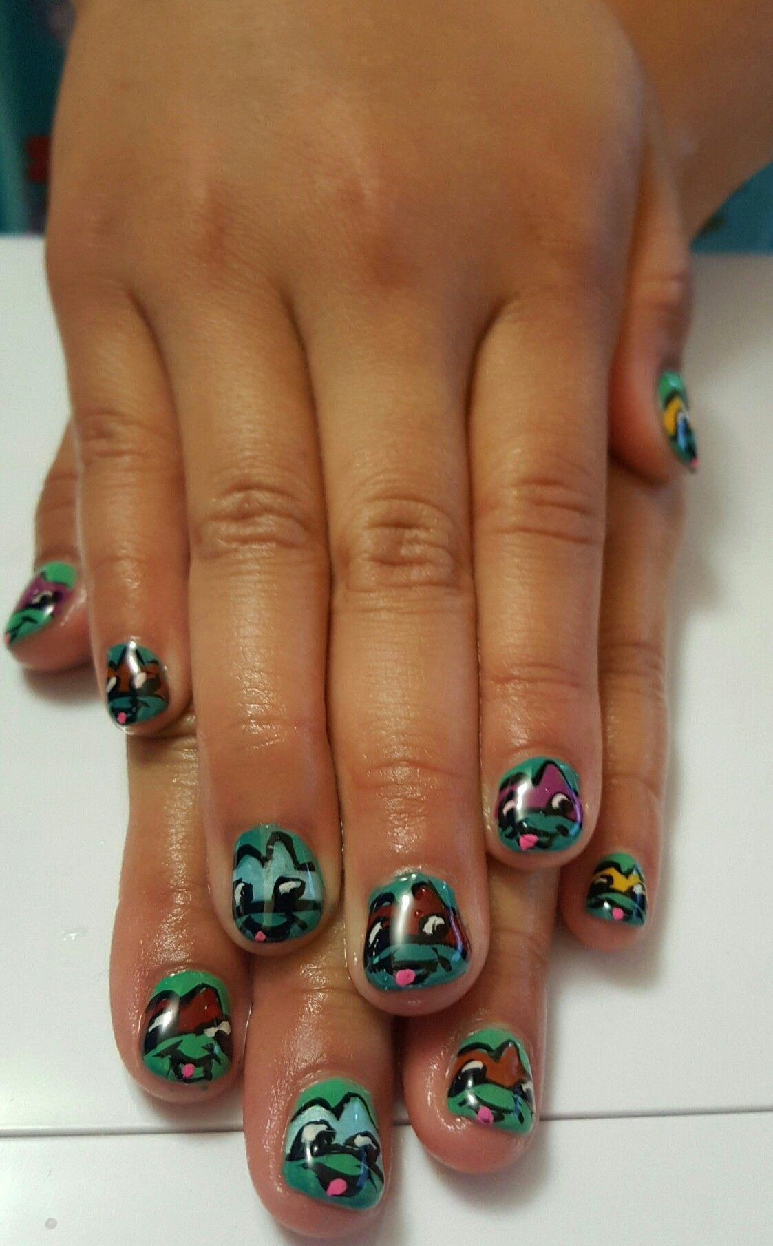Teenage ninja Turtles   Nails design by Hip Hop nails   Pinterest ...