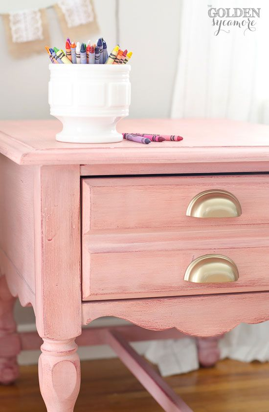 Pink Nightstand Side Table Shabby Chic Dresser Shabby