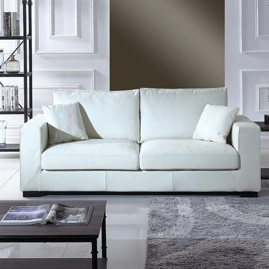 Fabulous Leka Large Modern Top Grain Leather Sofa Sofas By Orren Home Interior And Landscaping Mentranervesignezvosmurscom
