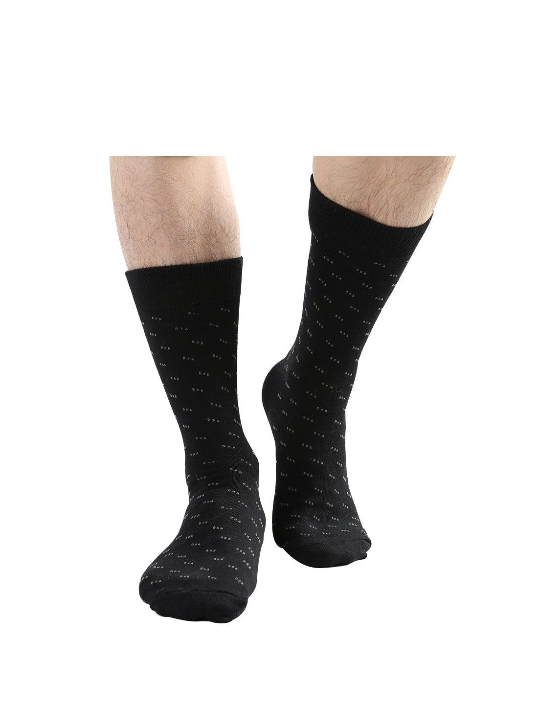 Uxcell Men 10 Packs Luxury Cotton Pattern Long Dress Ribbed Assorted Socks Color Black Stripes 2 Dots Size 1315 Find Black Dress Socks Socks Warm Socks [ 1447 x 1100 Pixel ]