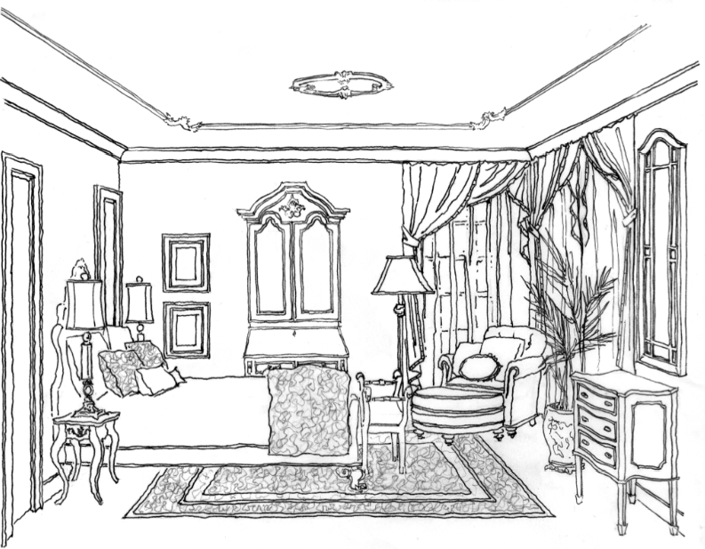 Mansion In May 2012 Joan Eisen Interior Design Rendering By