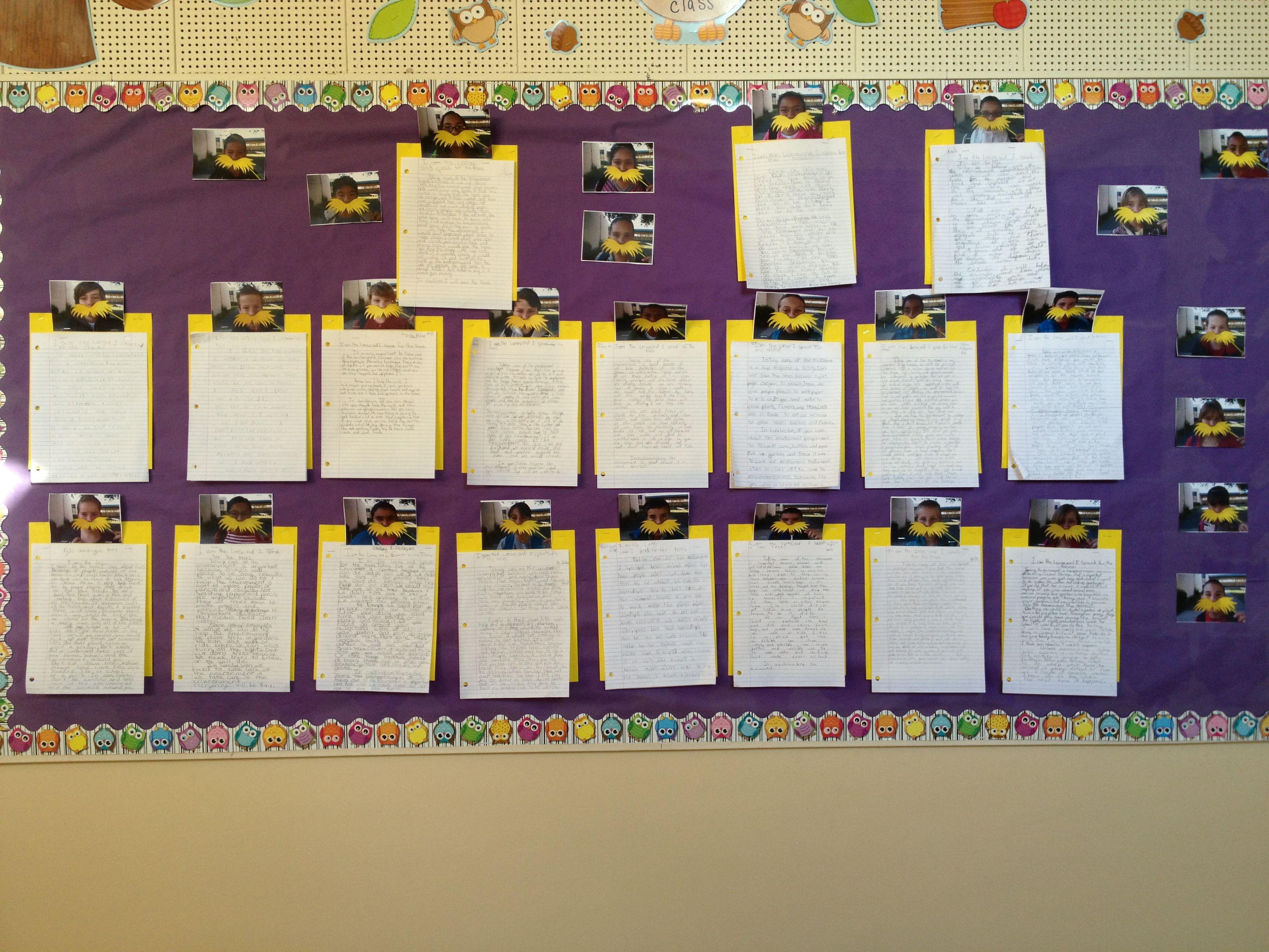 the lorax bulletin board narrative essays on the environment the lorax bulletin board narrative essays on the environment