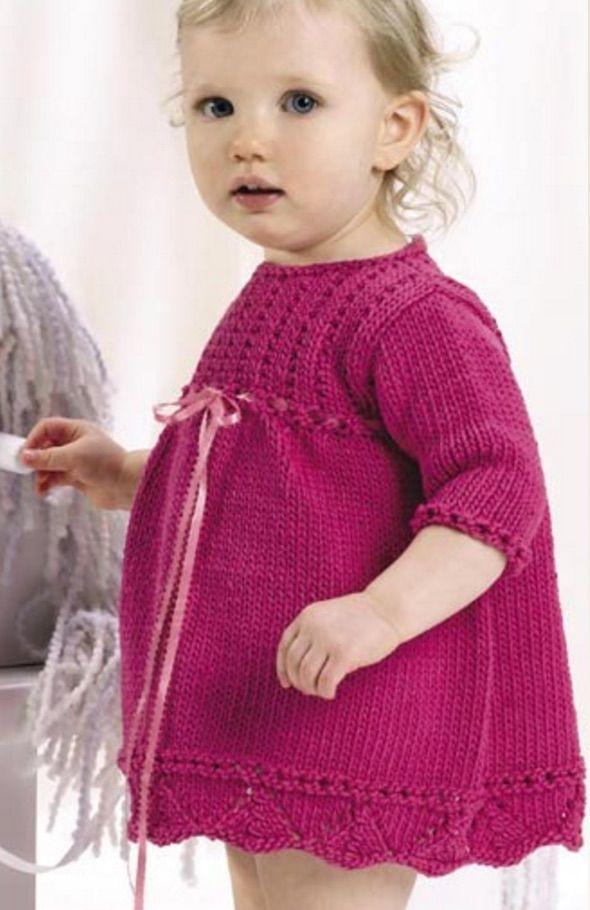 free knitting pattern | - Part 4 | Knit baby dress, Baby ...