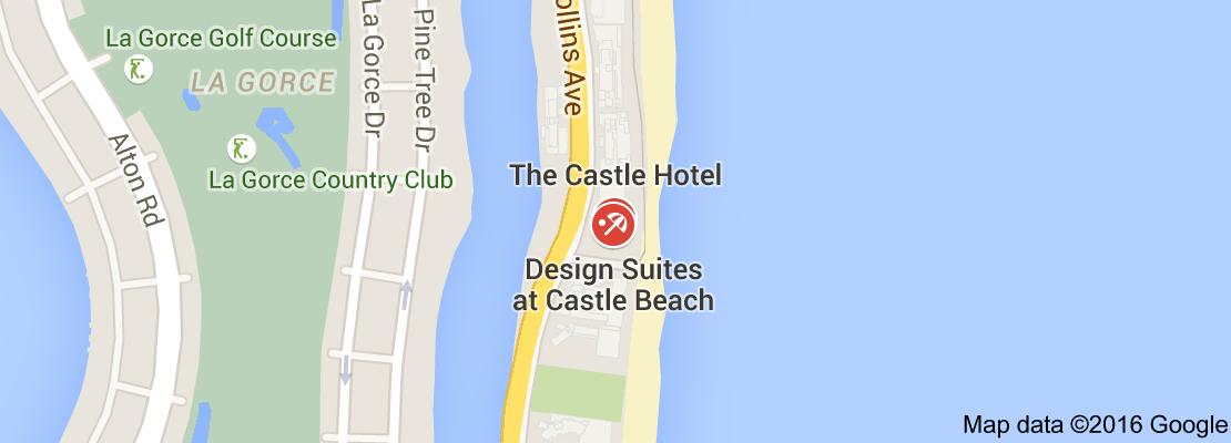 Mapa de castle beach
