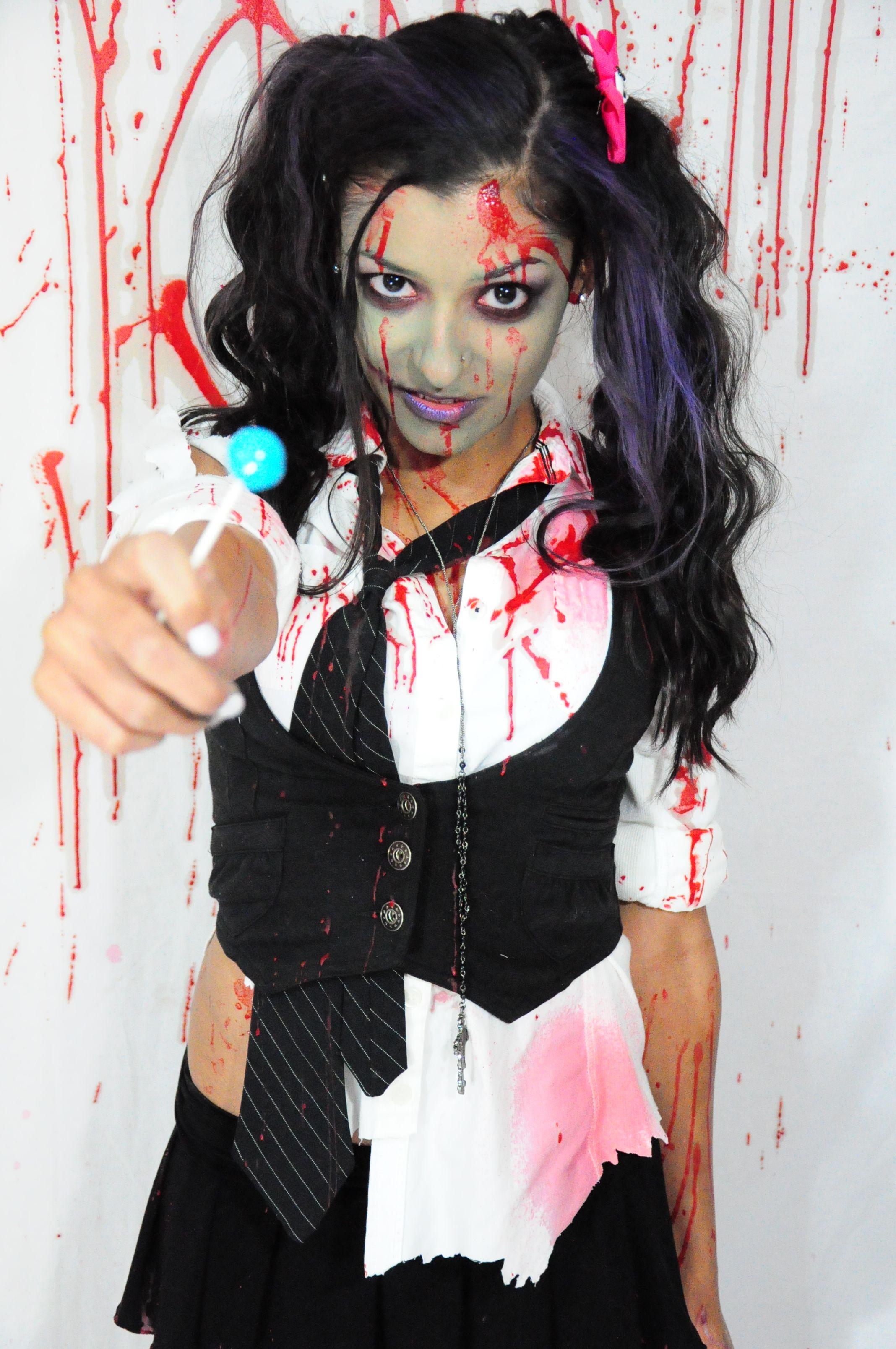 Lollipop zombie school girl Easy Halloween Costumes 9802d69d20234