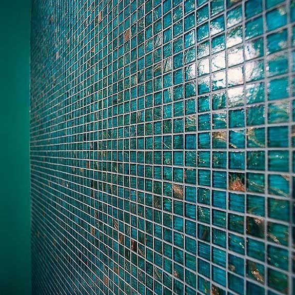 glass tile showcase bluegreen glass
