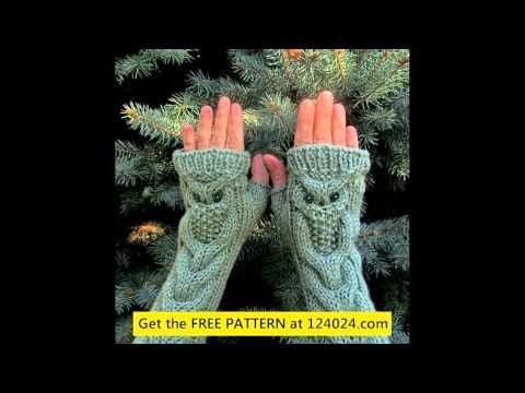 how to knit fingerless gloves with straight needles - YouTube