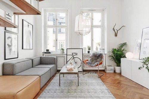 Scandinavisch Appartement Inspiratie : Styling inspiratie voor een scandinavische woonkamer living room