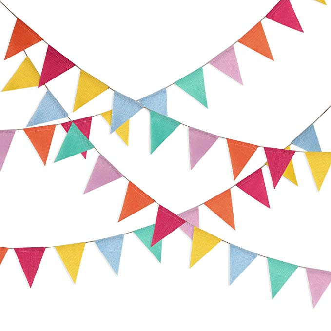 Amazon Com Shappy Multicolor Pennant Banner 42 Pieces Triangle Flag Bunting For Party Hanging Decoration Gatew Pennant Banners Hanging Decor Triangle Pennant
