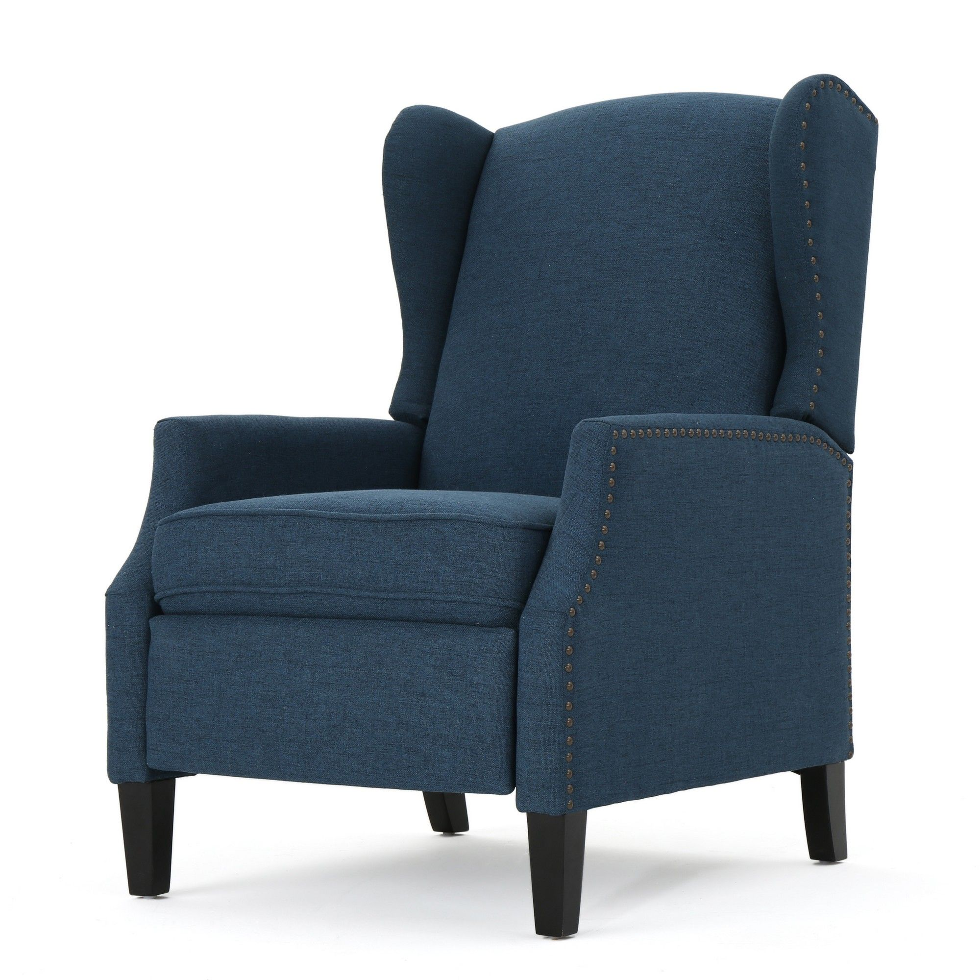 Wescott traditional recliner navy blue christopher knight home