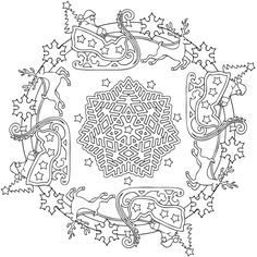 mandalas Christmas Coloring pages