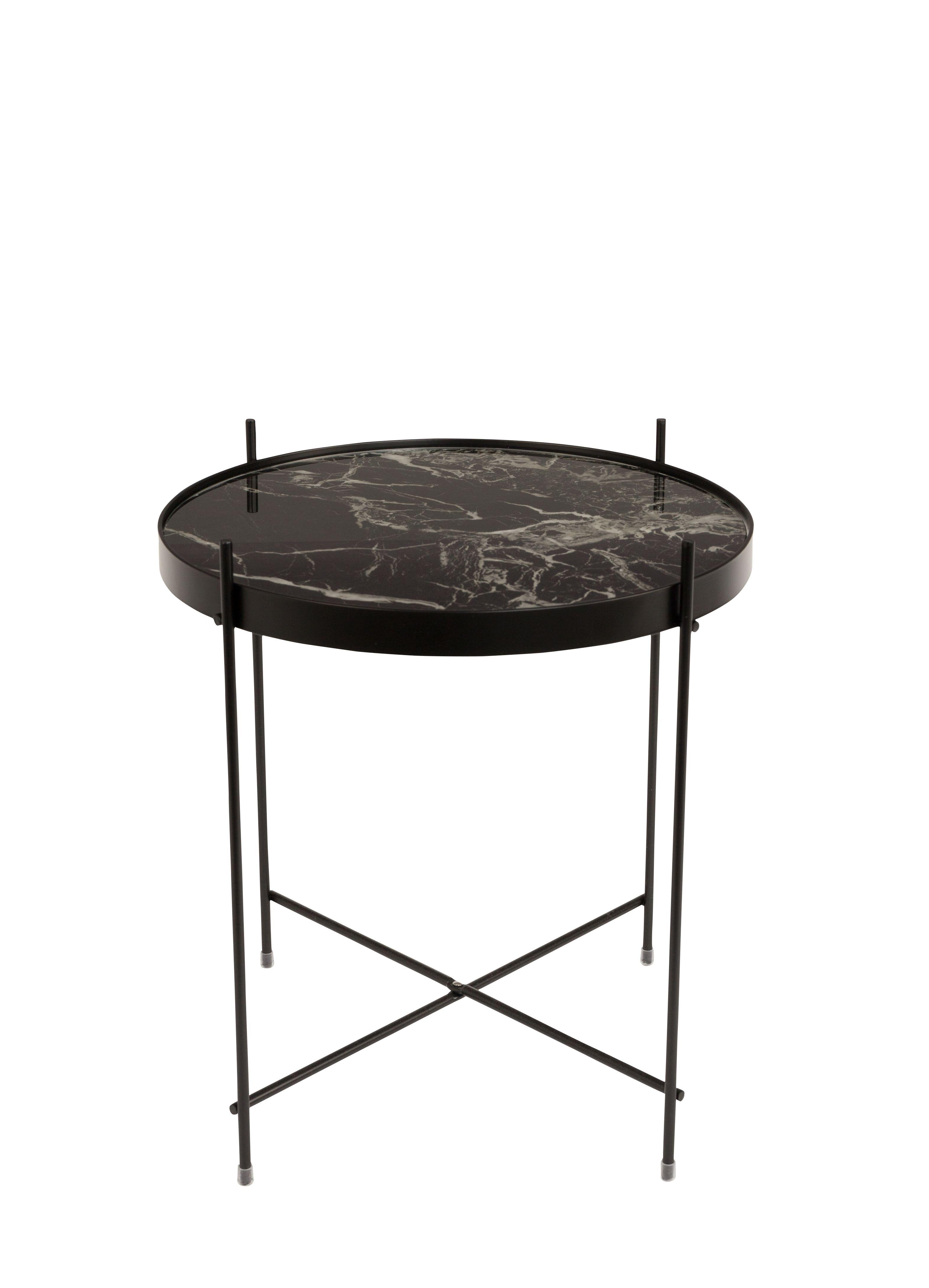 Side Table Bijzettafel.Stolik Cupid Oxon Czarny Marmur 43 Cm Zuiver Lazienka In