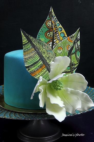 TIFANY ZENTANGLE CAKE