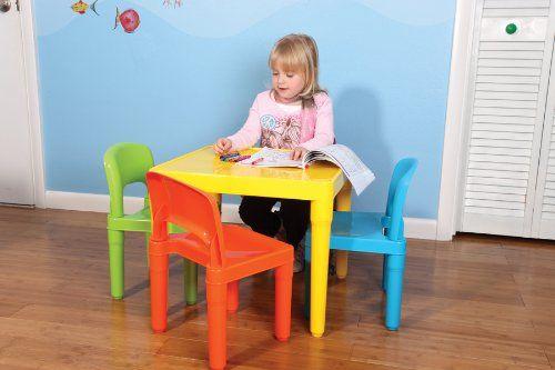 Amazon.com - Tot Tutors Kids\' Table and 4-Chair Set, Plastic ...