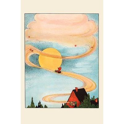 """Buyenlarge 'Sailed the Skies' by Eugene Field Painting Print Size: 30"""" H x 20"""" W"""