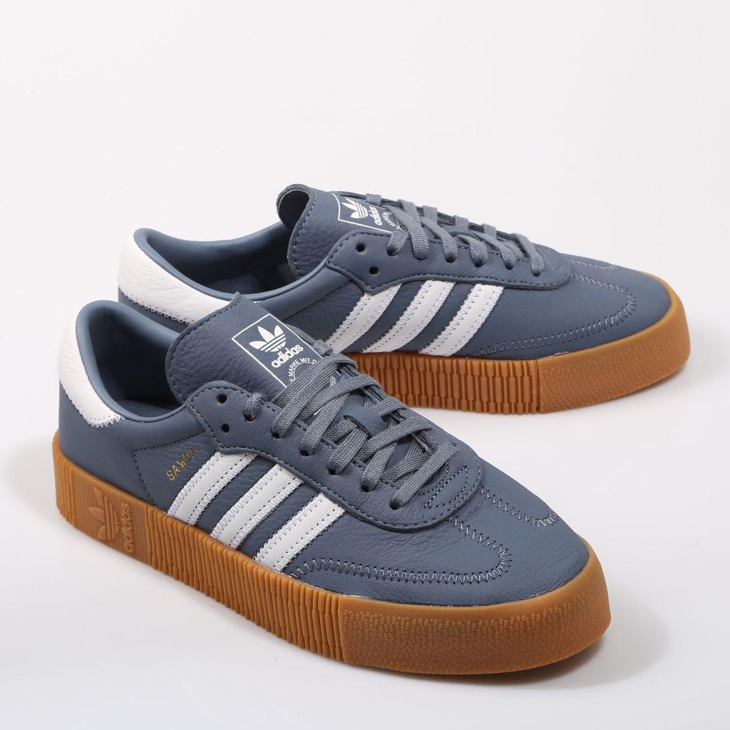 artillería Escribir excursionismo  ADIDAS Sambarose en color azul y plataforma color caramelo. | Tenis sapato,  Sapatos, Tenis
