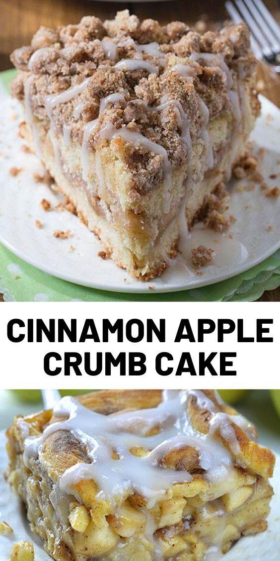 Cinnamon Apple Crumb Cake -   18 desserts Easy recipes ideas