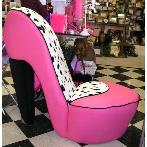Dalmatian U0026 Hot Pink High Heel Shoe Chair. I Have A Cowboy Boot Now, But  Iu0027m Going To Need This One Too!!!