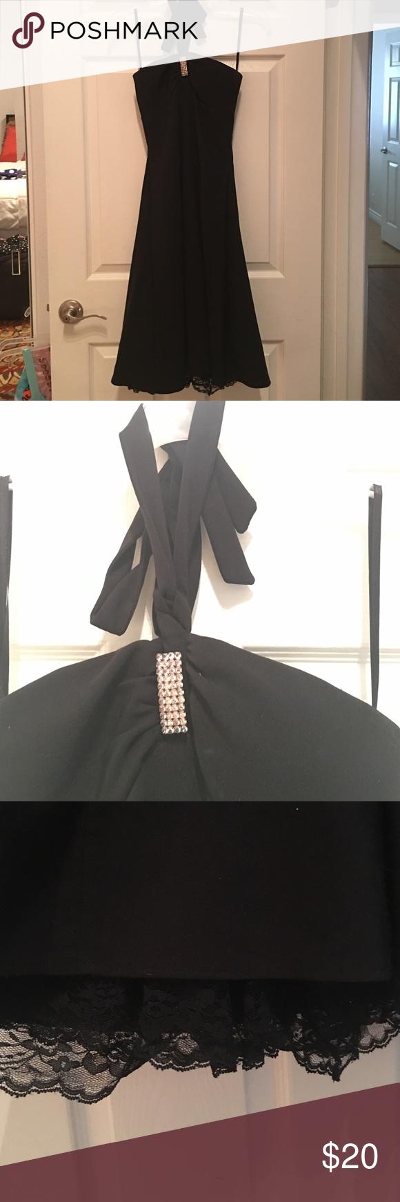 Black halter dress gorgeous black halter dress pefect for a school