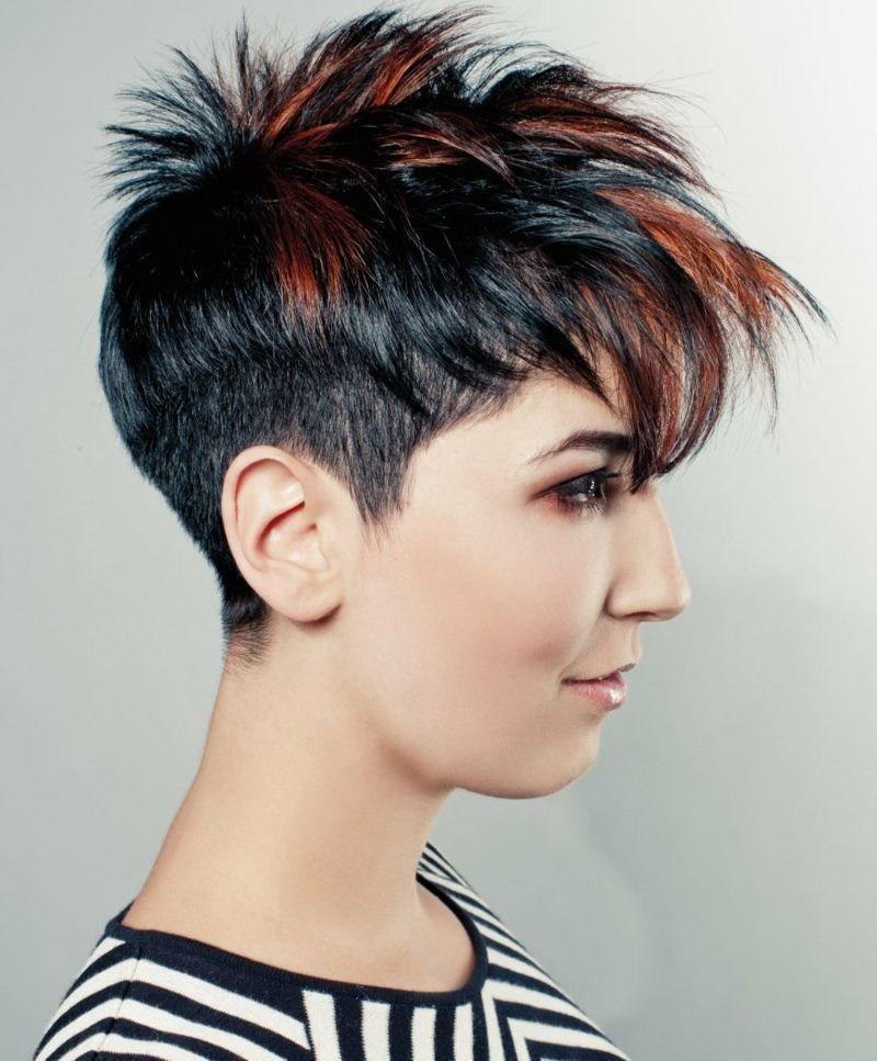 Kurzhaarfrisuren Zwei Farben Moderne Frisuren