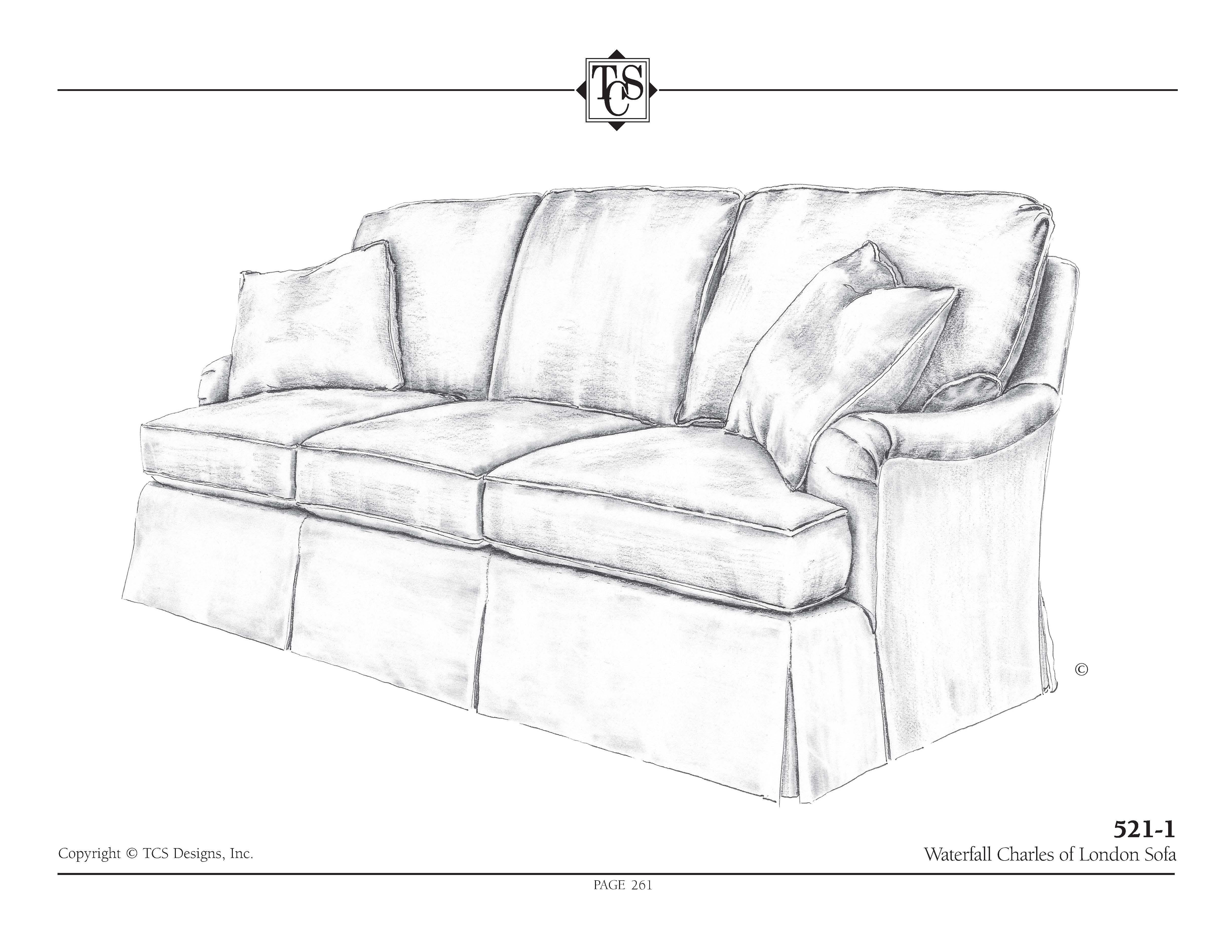 TCS   521 11 Waterfall Charles Of London Full Sleeper Sofa (larger Sofa  Shown