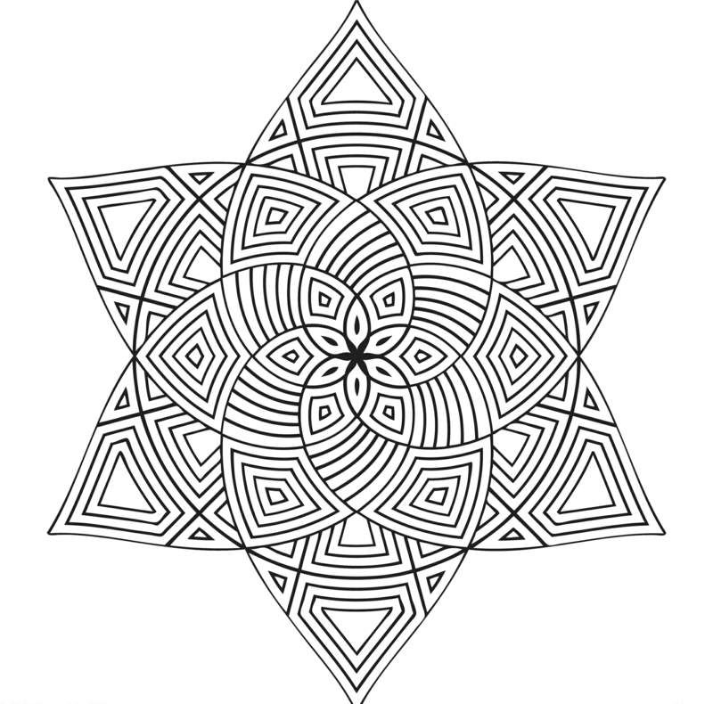 Mandala Vorlagen - Stern und Blume in einem Design | BuJo ...