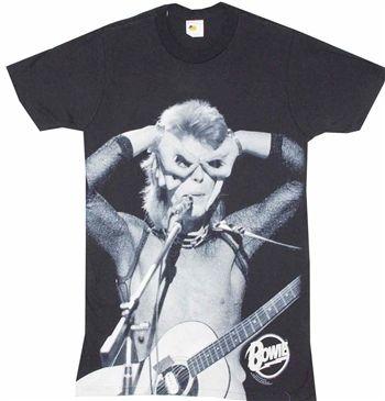 David Bowie /'Acoustics/' T-Shirt NEW /& OFFICIAL