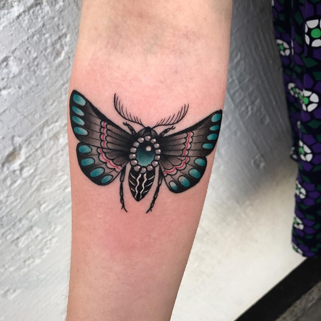 Neo Traditional Moth Tattoos On Men Tattoos Neo Traditional