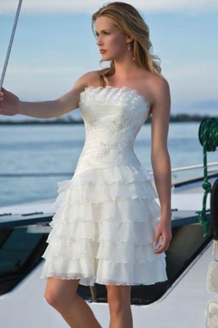 New arrival charming column strapless shortmini knee length wedding