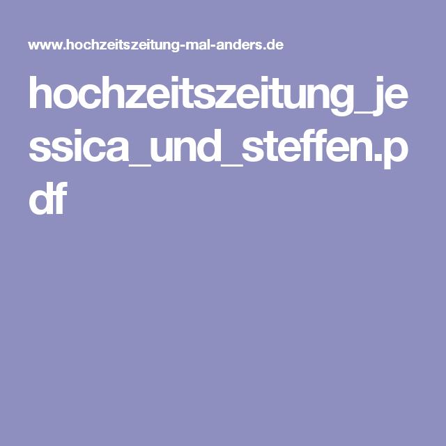 hochzeitszeitung_jessica_und_steffenpdf - Hochzeitszeitung Beispiele Pdf