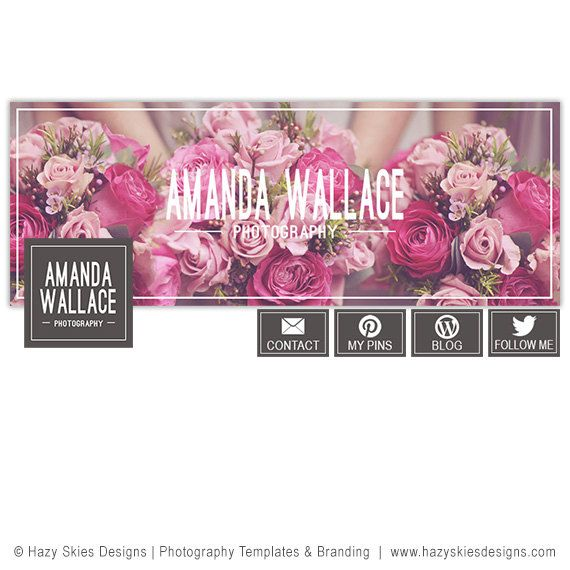 Facebook Cover Template for Photographers, Facebook Timeline Cover