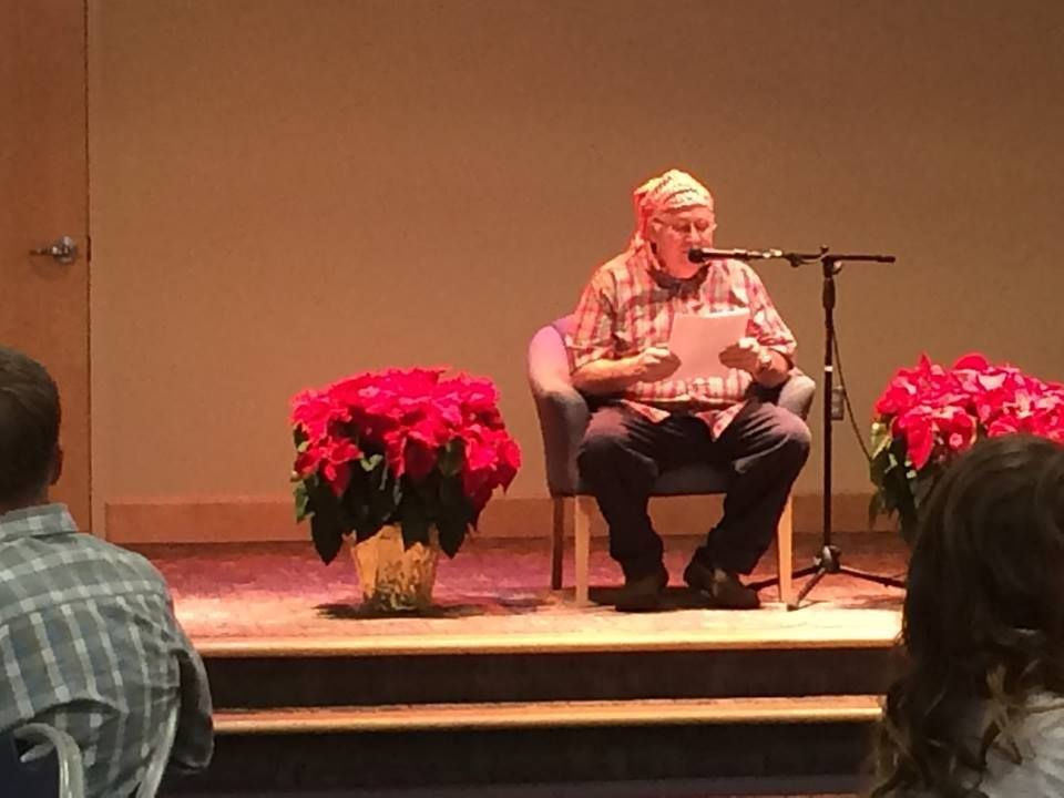 "Author Kerry Patterson, at our annual VitalSmarts Christmas party today, wowed the audience with his recitation of ""'Twas The Night Before Christmas, VitalSmarts Style."" We also enjoyed multiple musical numbers (some in costume; we got talent!), jokes, great food, a gift for all, and a visit from the man in the Big Red Suit (and boy, was he big!) #VitalSmartsRocks #LoveMyJob #MerryChristmas"