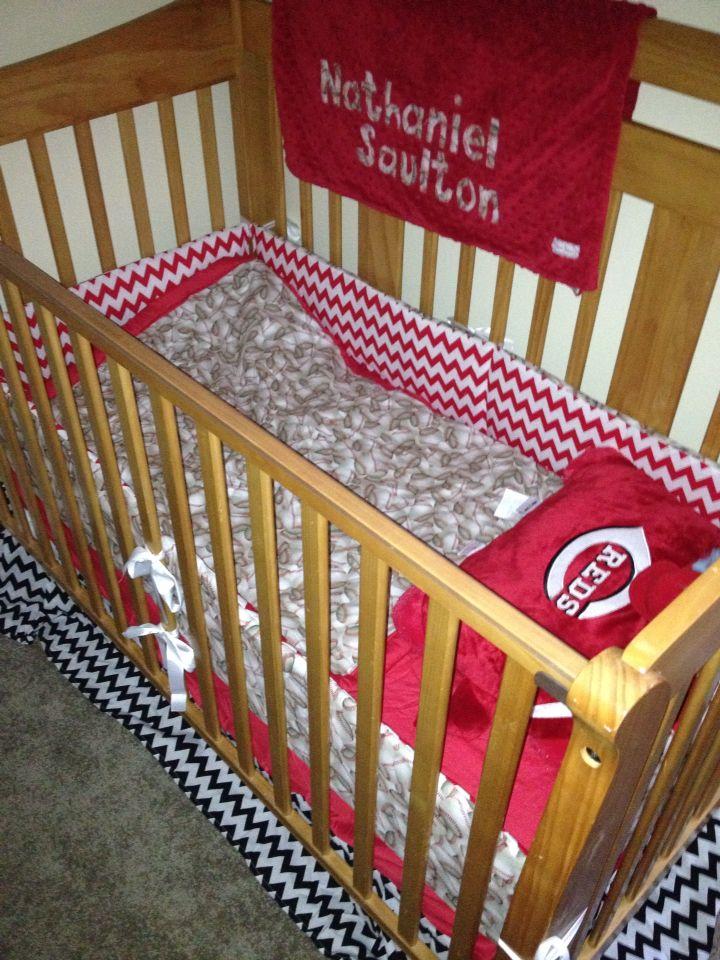 Cincinnati Reds baseball crib bedding | Bed, Crib bedding ...