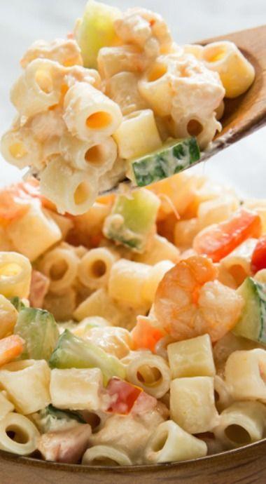 Shrimp Pasta Salad Recipe Salad Bar Sensations Best Salad And