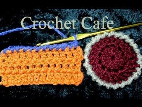 كروشيه غرزة الحشو العكسية لتزيين أطراف الكروشيه Crochet Cafe Youtube Crochet Hats Crochet Projects To Try