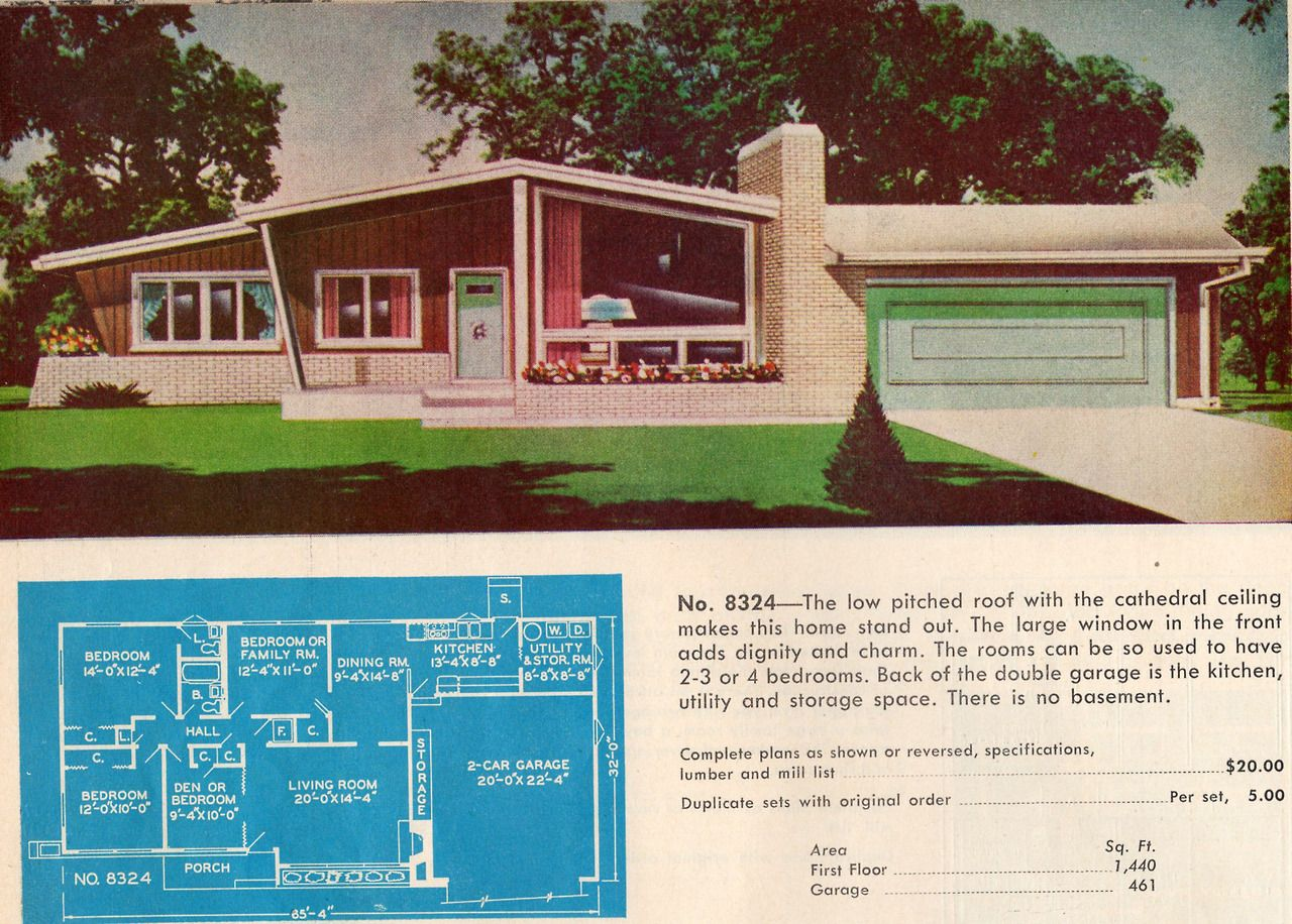 "1950s-60s ""Ranch and Suburban Homes"