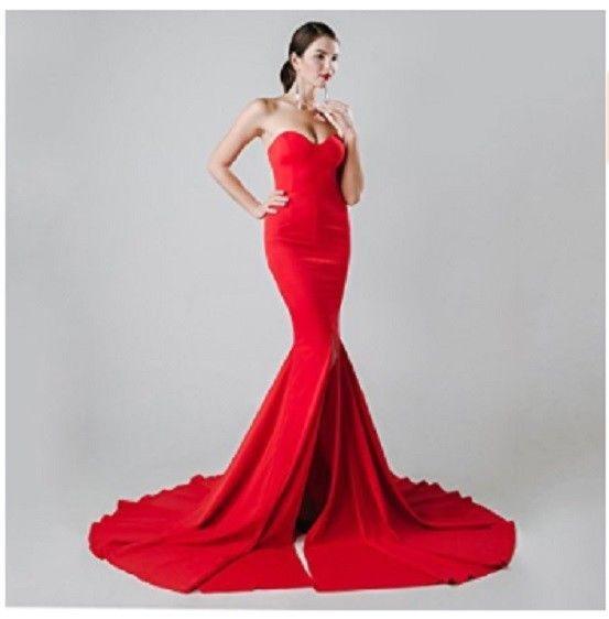 Jessica Rabbit Dress Halloween Red Costume Mermaid Cosplay Party ...