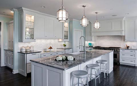 Beautiful The Silver And White Look Is Perfect With White Fantasy Granite Countertops