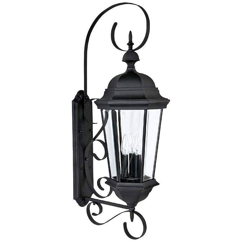 Capital Carriage House 36 High Black Outdoor Wall Light 1h839 Lamps Plus Outdoor Wall Lighting Outdoor Wall Light Fixtures Wall Lights
