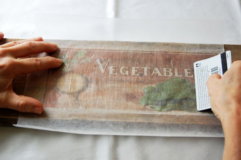 Diy Print On Wood Diy Prints Wax Paper Transfers Picture Onto Wood