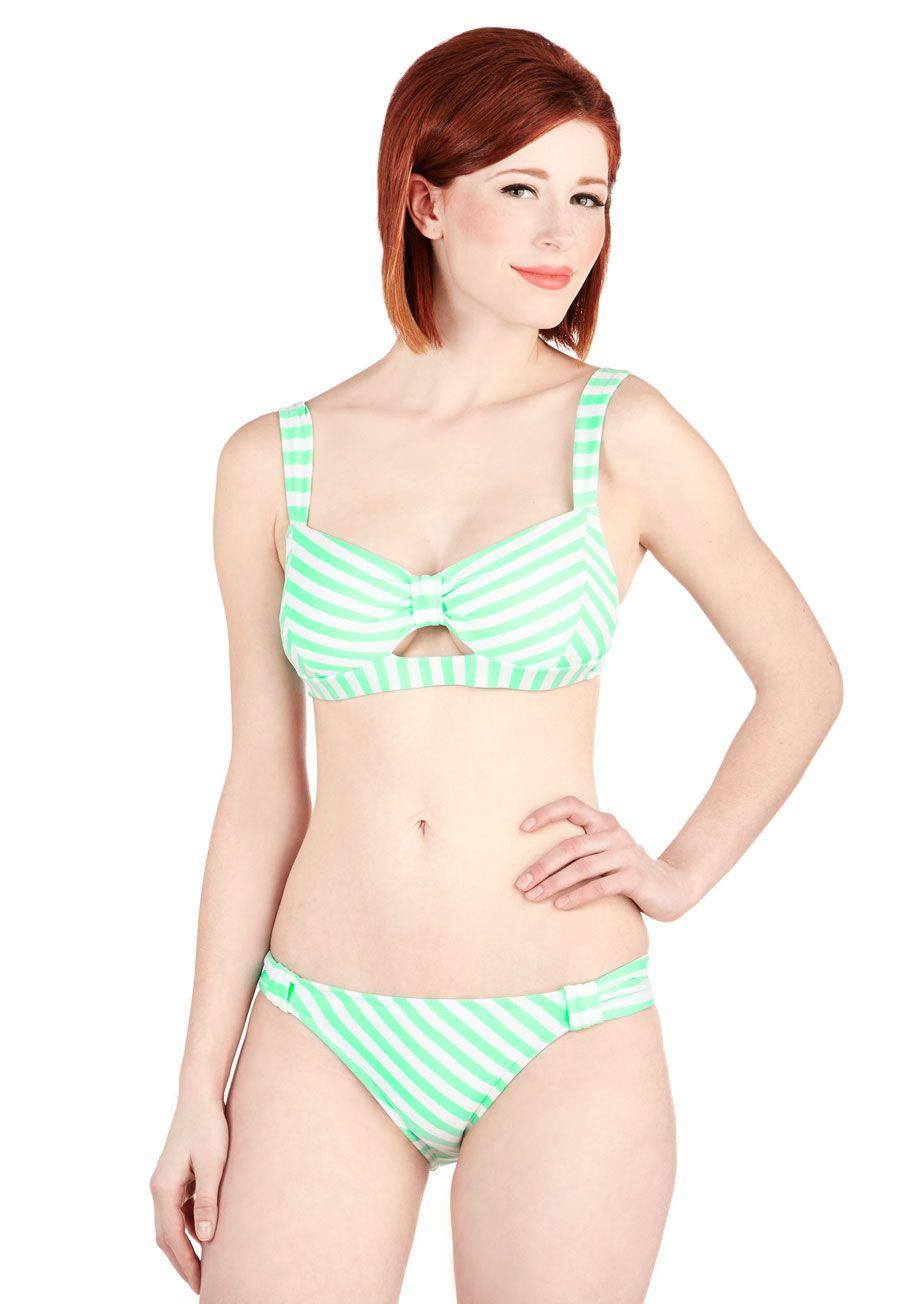 On Island Time Bustier Bikini Top in Coral